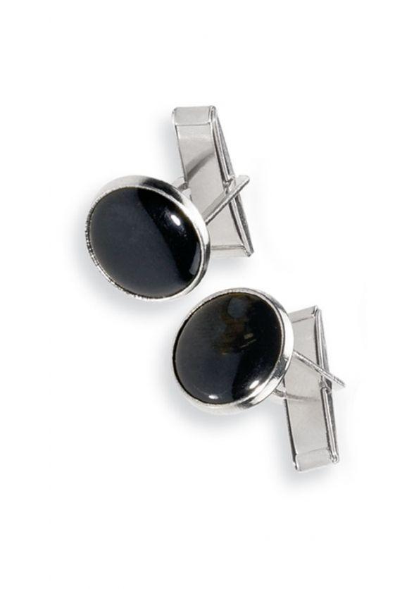 Black Stone Tuxedo Cuff Links