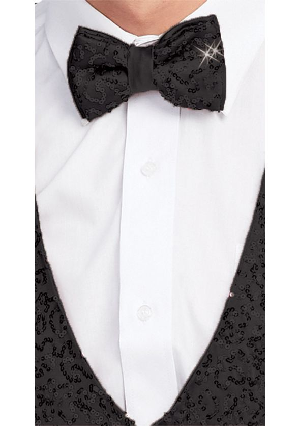 Diamond Sequin Bow Tie