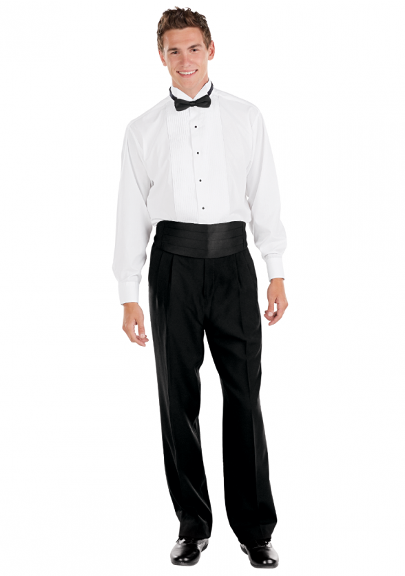 Formal Ensemble with Tuxedo Pants