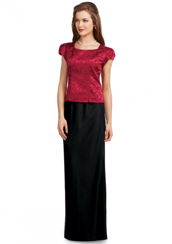 Crepe Pull-On Skirt