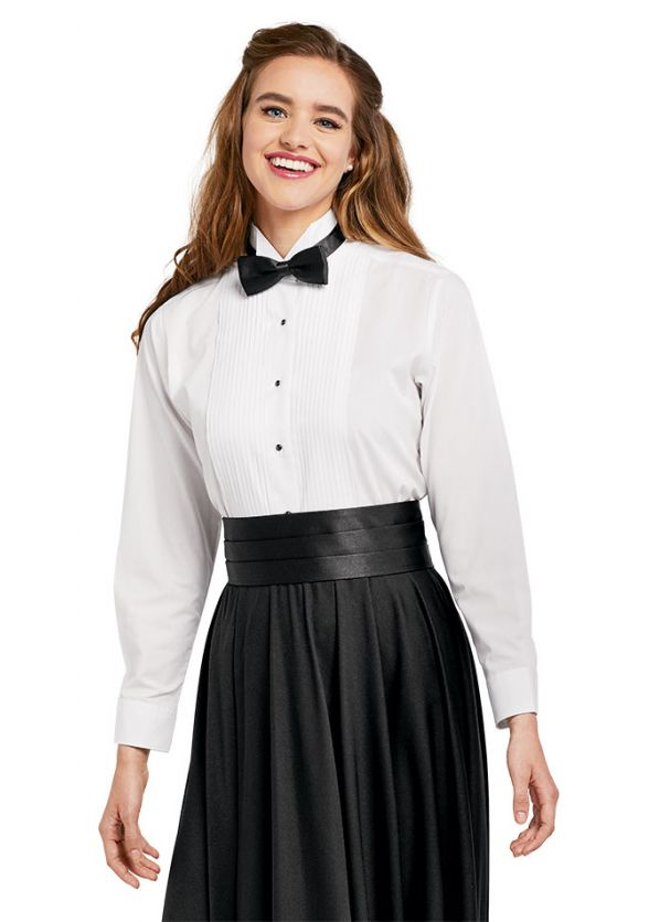 Ladies' Wing Collar Tuxedo Shirt