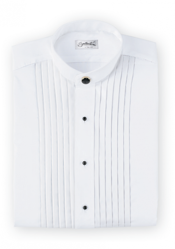Mandarin Collar Tuxedo Shirt