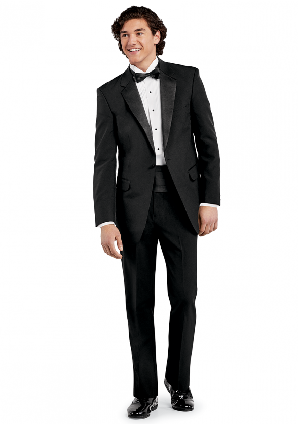 Full Tuxedo Ensemble with Bow Tie & Cummerbund