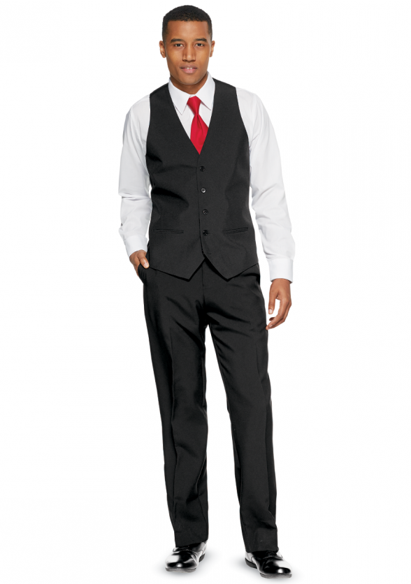 Vest Ensemble with Cavalier Pants & Long Tie