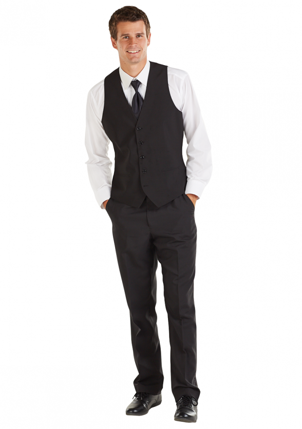 Vest Ensemble with Tuxedo Pants & Long Tie