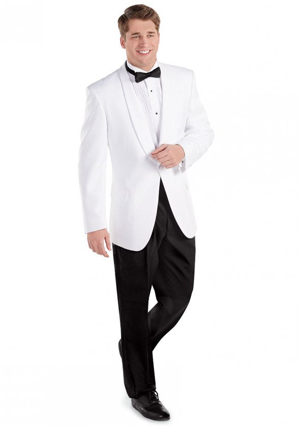 Men's White Shawl Dinner Jacket