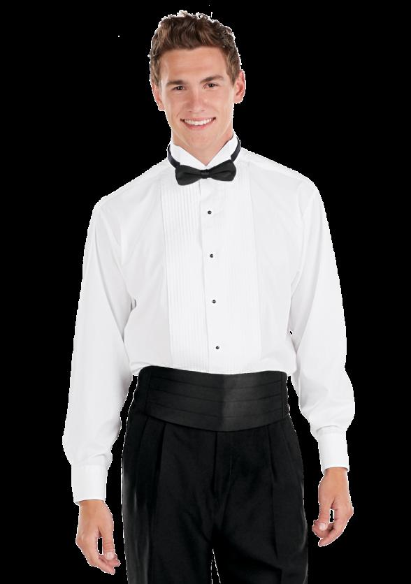 Wing Collar Tuxedo Shirt