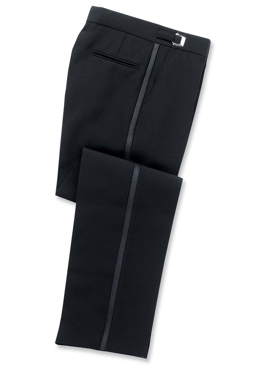 Adjustable Flat Front Tuxedo Pant