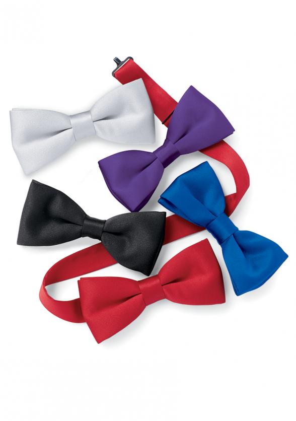 Adjustable Banded Vanguard Bow Tie in Satin