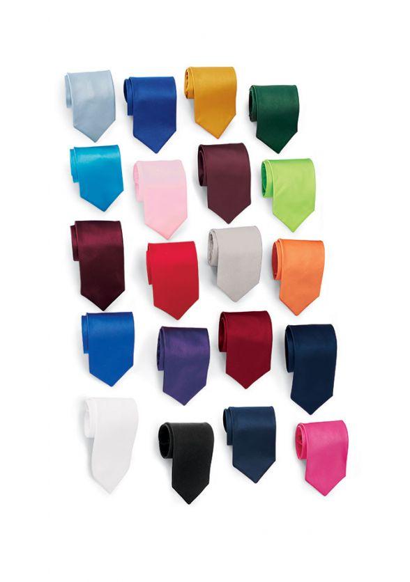 Skinny Cinch Satin Necktie in All Colors
