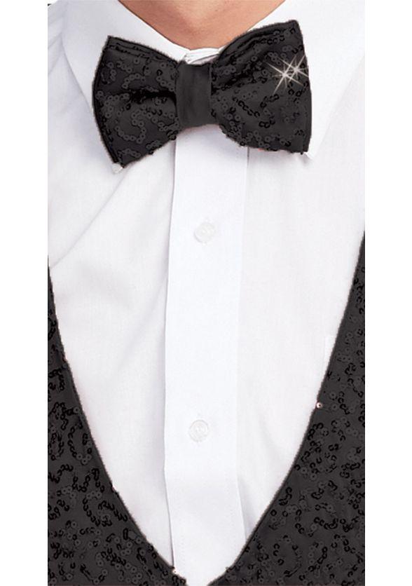 Diamond Sequin Bow Tie