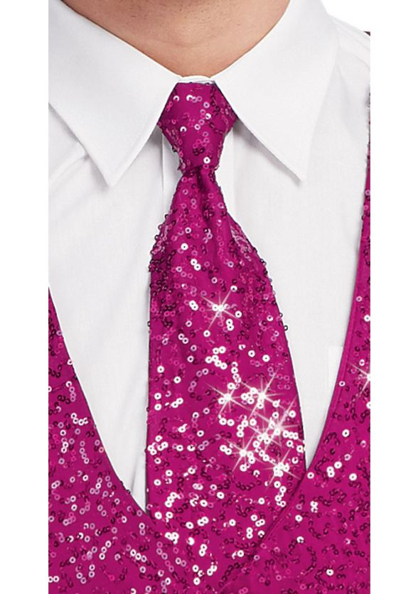 Diamond Sequin Long Tie