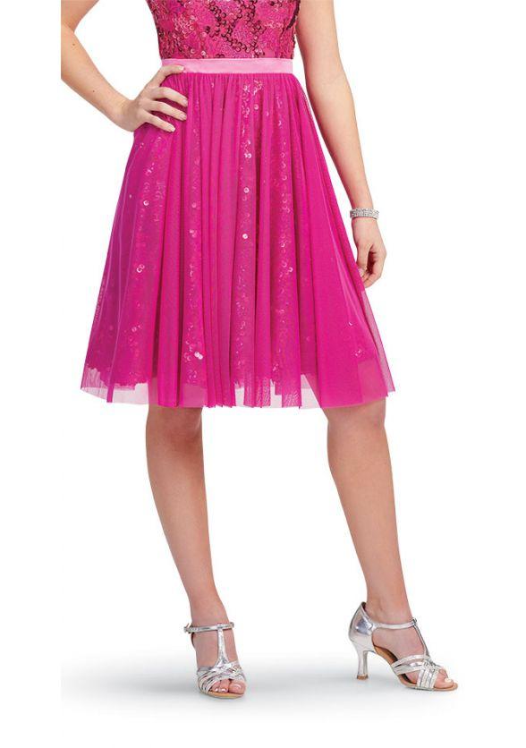Mesh Wrap Skirt