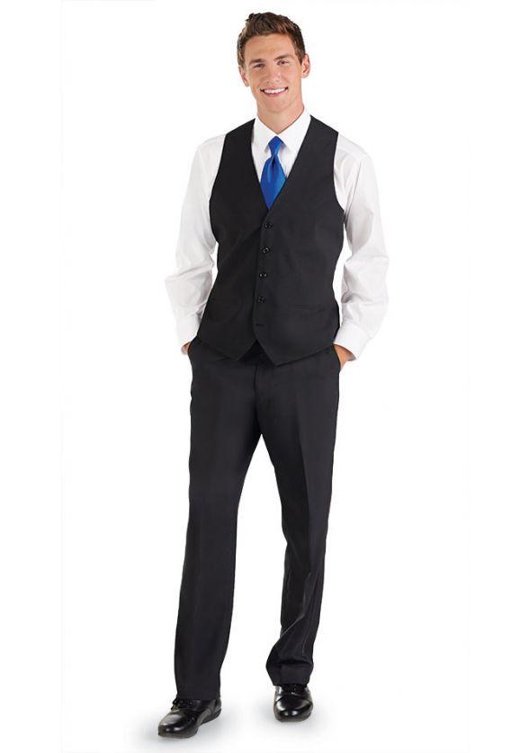 Vest Ensemble with Tuxedo Pants & Long Tie