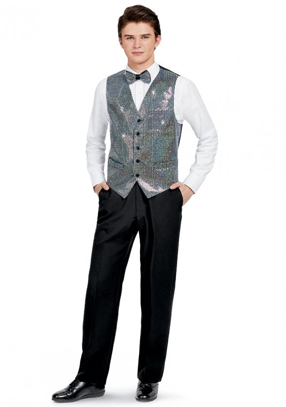Sequin Vest & Tie Combo