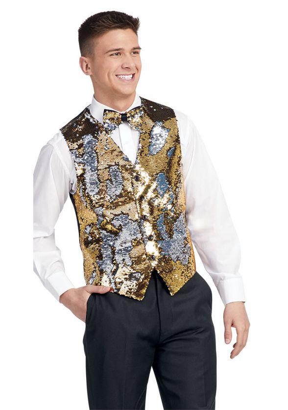 Two-Way Sequin Vest & Tie Set