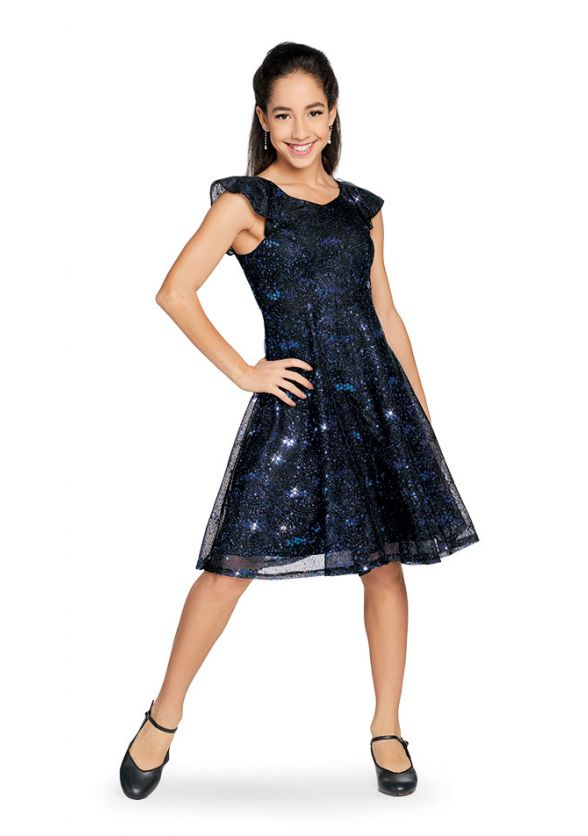 Double Flutter Sleeve Youth Paige Dress for Show Choirs