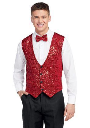 Men's Diamond Sequin Vest
