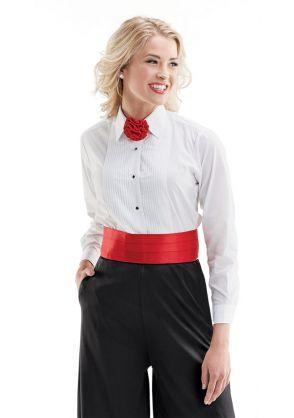 Ladies' Regular Collar Tuxedo Shirt