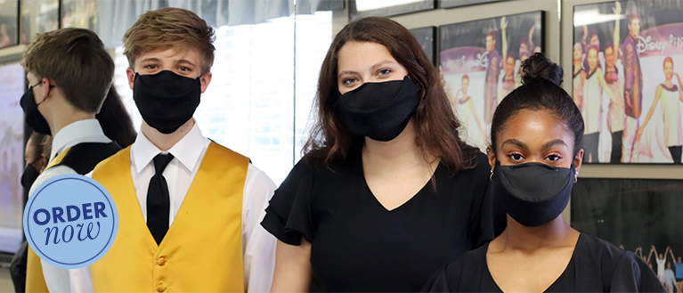 students wearing Voice Masks