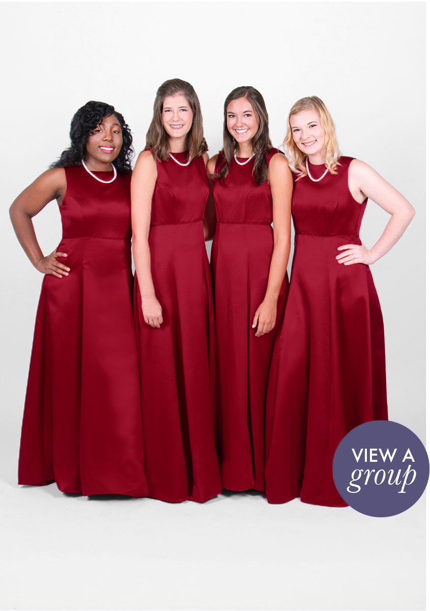 group of girls wearing Ashton Concert Choir dress