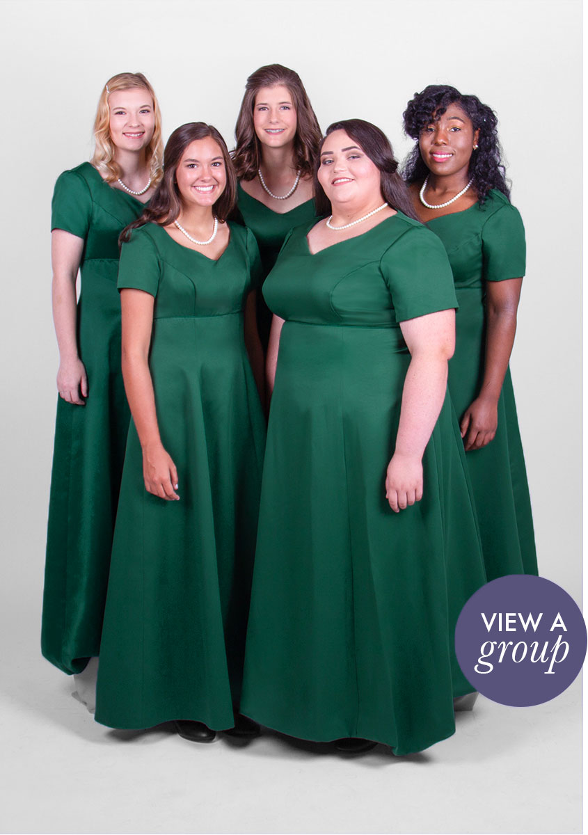 group of girls wearing Chorale Concert Choir dress
