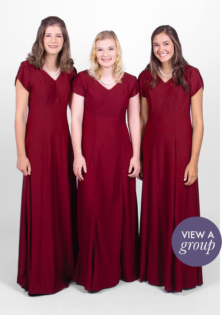group of girls wearing Georgia Concert Choir dress