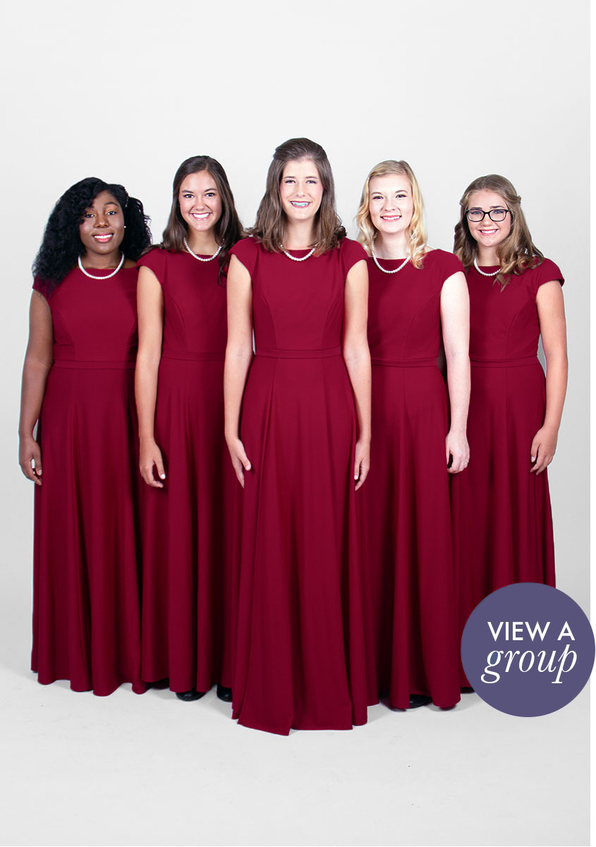 group of girls wearing Kolby Concert Choir dress