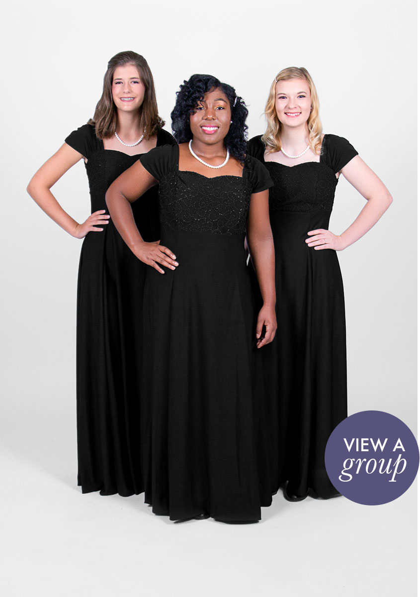 group of girls wearing Sofia Concert Choir dress