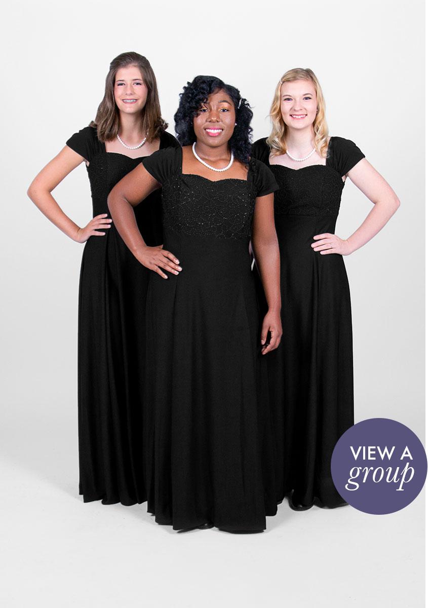 group of girls wearing Sofia Concert Choir dress