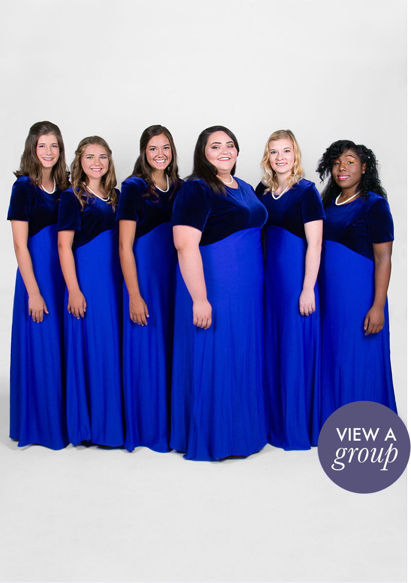 group of girls wearing Oratorio Concert Choir dress