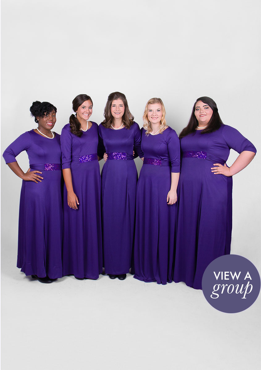 group of girls wearing Pageant Concert Choir dress