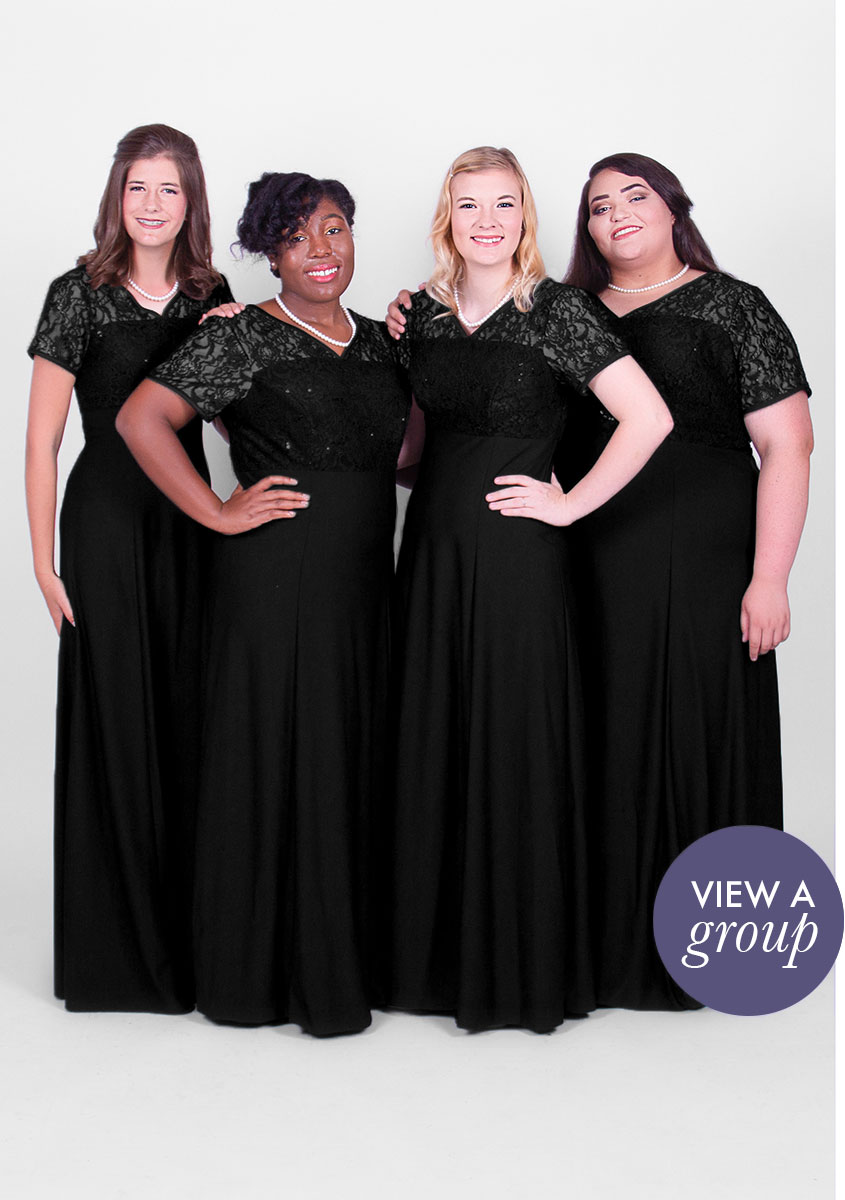 group of girls wearing Venice Concert Choir dress